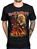 Official Iron Maiden Final Number of The Beast Graphic T-Shirt Rock Metal Hermit Vortex Black