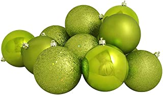 Northlight 36ct Kiwi Green Shatterproof 4-Finish Christmas Ball Ornaments 4
