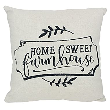 Vintage Shabby Chic Butterfield Farms, Home Sweet Farmhouse, Farm Markets, Home Milk Cow, Pillow Cover 16  Square (Home Sweet Farmhouse)
