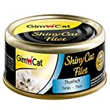 GimCat Shiny cat filet Alimento para gatos adultos sin azucar y gluten, atún, 24 x 70 g
