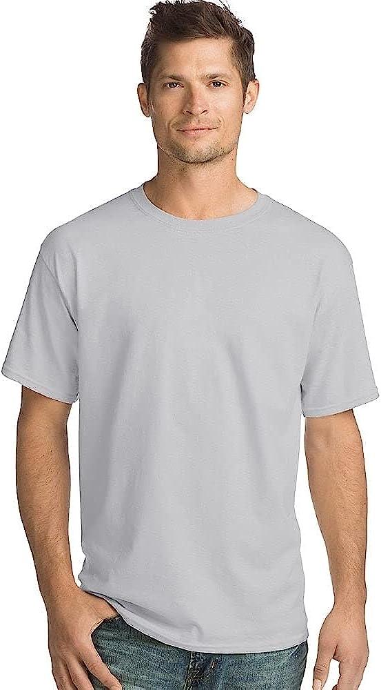 Hanes Mens 5.2 oz. ComfortSoft Cotton T-Shirt (5280) Charcoal Heather 3XL