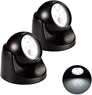 ALOVECO 2Packs Battery Powered LED Wall Light Fixture with Motion Sensor - Auto On/Off