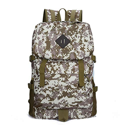 CuiCui 40L Mountaineering Backpack Camouflage Camping Backpack Travel Backpack Men And Women Large Capacity Leisure Sports,Desert camouflage