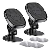 [2 Pack] Cell Phone Holder for Car FLOVEME Magnetic Phone Mount Hands Free for Car Dashboard Compatible with iPhone 12 11 Pro Max Galaxy S21 Note 20
