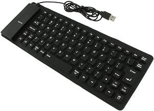 Insten Foldable Flexible Ultrathin Keyboard USB 2.0 Compatible with Mac/Windows 7 / Windows 8 / Windows Vista XP, Black