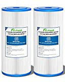 Fil-fresh 5 Micron 10' x 4.5' Whole House Big Blue Pleated Sediment Water Filter Replacement Cartridge Compatible with GE FXHSC, Culligan R50-BBSA, Pentek R50-BB, Dupont WFHDC3001, W50PEHD, 2 Pack