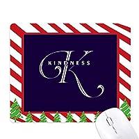 手紙表現 ゴムクリスマスキャンディマウスパッド