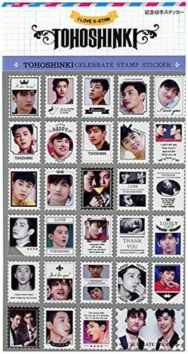 東方神起 (TVXQ) 記念 切手 シール ステッカー (Celebrate Stamp Sticker) [29ピース] グッズ