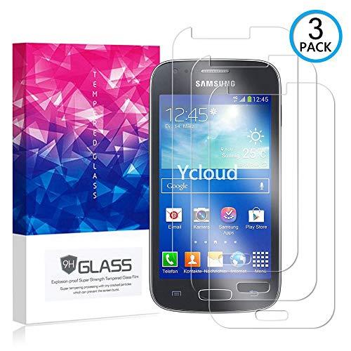 Ycloud [3 Pack] Protector de Pantalla para Samsung Galaxy Ace 3 (4 Pulgada),[9H Dureza/0.3mm],[Alta Definicion] Cristal Vidrio Templado Protector para Samsung Galaxy Ace 3 (4 Pulgada)