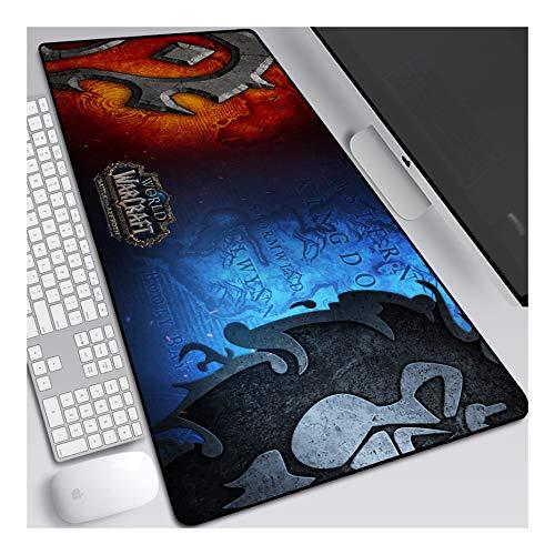 Mauspad World of Warcraft Anime Mauspad Gemütlich Mousepad 900x400mm Mikrofaser Verbessert Geschwindigkeit und Präzision, Rutschfest Gummierte Unterseite Waschbar Verschleißfest,Für Desktop PC, A
