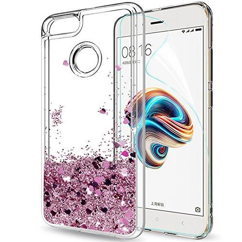 Custodia Xiaomi Mi 5X / Mi A1 Cover Brillantini Trasparente,LeYi il Originale Glitter Morbido Silicone TPU Bumper Telefoni Telefono Cellulari...