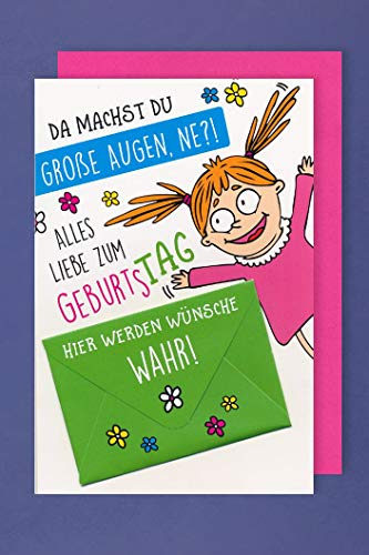 Geburtstag Humor Geld Karte Grußkarte Scheckkarten Umschlag Wünsche 16x11cm