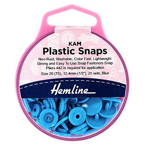 Juego de 25 broches de plástico Kam, no se oxidan, lavables, ligeros, fáciles de usar