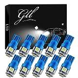 Grandview Lot de 10 ampoules 5-SMD 5050 LED pour clignotants Blanc Compatible avec T10 W5 W 2825158192168194 Bleu (Ice)