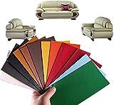 Lote de 5 parches de reparación de piel sintética autoadhesivos de reparación para sofá de asiento de coche, muebles, chaquetas, bolsos de mano, 25 x 30 cm (27#)