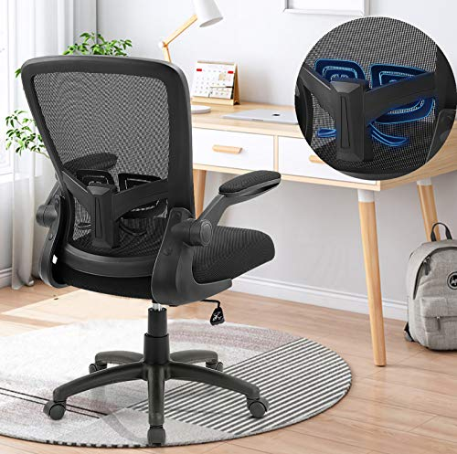 Office Chair, ANACCI Ergonomic Desk Chair with Adjustable Height and Lumbar Support, High Back Mesh Computer Chair with Flip up Armrests for Conference Room - 300lb Weight Capacity