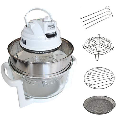 TURBO 3000 Heißluftgrill | Heißluftofen | Heißluftfriteuse | Heißluft-Backofen | Heißluft-Friteuse | Heißluft-Mikrowelle mit Umluft - inkl. Zubehör und Kochbuch