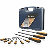 MulWark 9pcs Premium Grade Tempered High Carbon Steel Carpenter File Set with Flat, Round Rasp, Half...