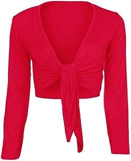 3fdd9add4b80 Loafers Donna Manica Lunga Tie Up Bolero Coprispalle Cardigan Top