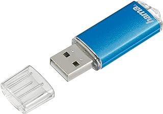 Hama 8GB USB Stick USB 2.0 Datenstick (10 MB/s Datentransfer, USB Stick mit Öse zur Befestigung am Schlüsselring, Speicherstick, Memory Stick mit Verschlusskappe, geeignet für Windows/MacBook) blau
