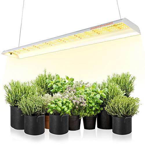 LED Pflanzenlampe Spider Farmer SF600 LED Grow Lampe Vollspektrum Grow Light Wachstumslampe für Zimmerpflanzen mit Reflektor Pflanzenleuchte Pflanzenlicht für Innen Gartenarbeit Gemüse Blume 384 LEDs