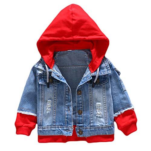 Odziezet Kinderkleidung Frühlingsmodelle Jungen Kinder Weiche Gewaschen Kapuze Jeansjacke Jeansbekleidung mit reißversluss