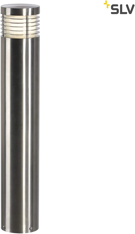 SLV LED Auenleuchte VAP SLIM 60, rund  Design Auen-Standleuchte aus Edelstahl zur stilvollen Outdoor-Beleuchtung  Wege-Leuchte, Pollerleuchte, Einfahrt-Beleuchtung, Garten-Lampe  E27, A - A++