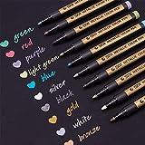 YONGQIANG 10色/セットメタリックマーカーペンカラフルなスケッチペン絵画デッサン蛍光ペン