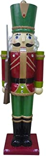 Home Accents Holiday 3 ft. Metallic Nutcracker Soldier with Staff
