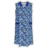 Bata de algodón para mujer, vestido de casa sin mangas, delantal multicolor Modelo 2 60
