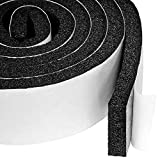 Yotache Open Cell Air Conditioning Weatherstrip Insulation Foam 2 X 1/2 Inch, Self Adhesive Flame Retardant Seal Strip, 6.5 Feet Long