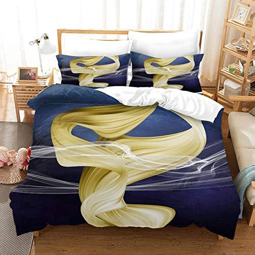 WEDSGTV Funda nórdica de algodón 100% poliéster suave Estampado dorado abstracto 53.1x78.7 inch juego de ropa de cama funda de edredón juego de cama para el hogar juego de cama con estampado de flores