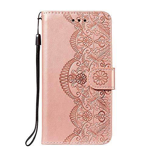 LORMI Funda para Xiaomi Mi Mix Fold Carcasa,Cuero Premium Cierre Magnético Flip Carcasa Case para Xiaomi Mi Mix Fold Wallet Case-Oro Rosa