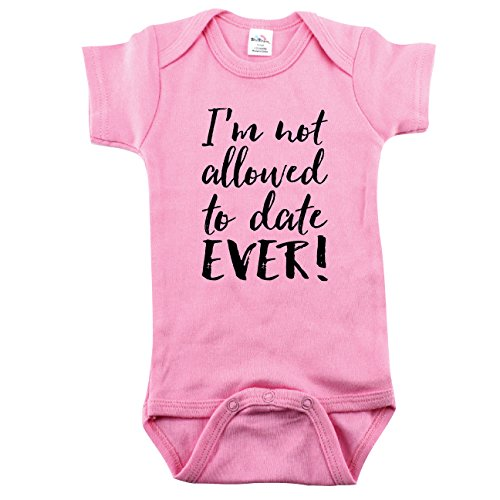 Not Allowed to Date, Baby Girls Outfit, Funny Girl Outfit, 3-6 m