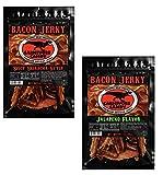 JURASSIC JERKY'S Carnivore Candy (2) pk Spicy Bacon Jerky Sampler - Spicy Sriracha Flavor - Jalapeño Flavor (1 ea - 2oz Bags)