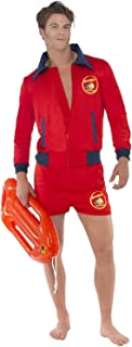 Mens Sexy Baywatch Lifeguard Emergency Service Stag Do Night Party TV Series Book Film Fancy Dress Costume Outfit (Large)