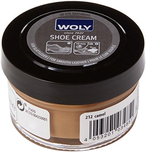 Woly Shoe Cream, Zapatos y Bolsos Unisex Adulto, Marrón (Camel), 50 mL