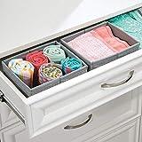 Mdesign 2er-Pack Stoffbox für Schrank oder Schublade – die ideale Aufbewahrungsbox (Stoff) – flexibel verwendbare Stoffkiste – Farbe: grau - 2