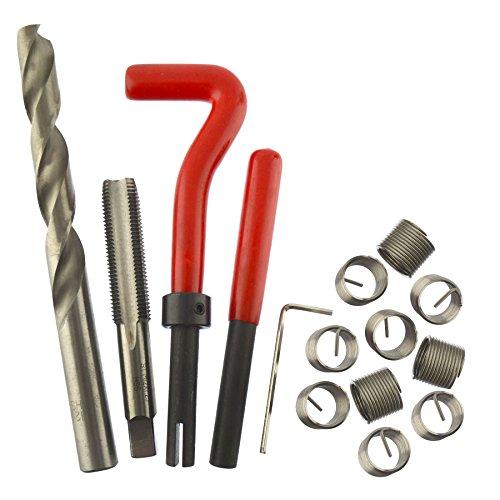 AB Tools-Neilsen M12 x 1.25mm Thread/Tap Repair Cutter kit helicoil 15pc Set Damaged Thread