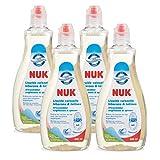 NUK Lot de 4 liquides nettoyant spécial biberons et tétines 500 ml
