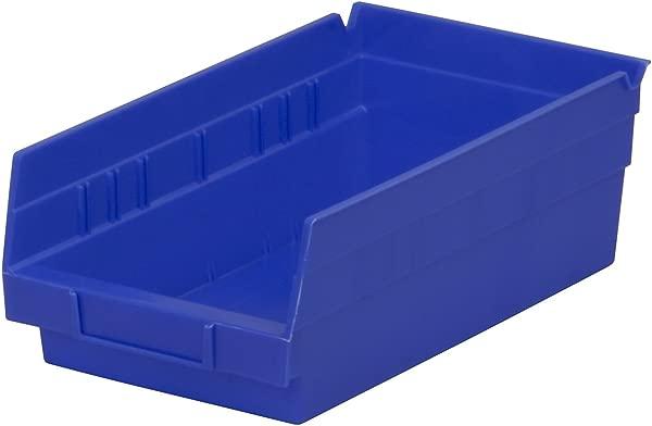 Akro Mils 30130 12 英寸乘 6 英寸乘 4 英寸塑料嵌套架子垃圾箱蓝色 12 个装