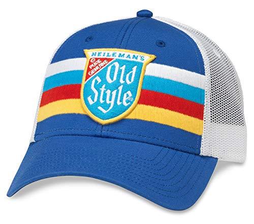 AMERICAN NEEDLE Old Style Daylight Mesh Back Adjustable Snapback Trucker Hat White/Royal