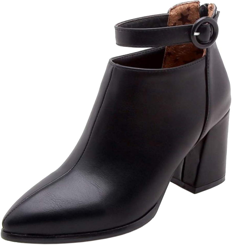 RizaBina Women Fashion Pointed Toe Short Boots