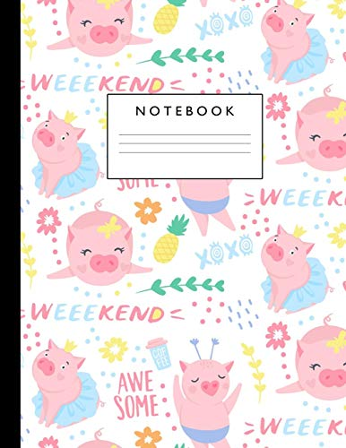 Notebook: Cute Lined Journal Ruled Composition Note Book to Draw and Write In - School Supplies for Elementary, Highschool and College (8.5 x 11 Size 100 Writing Pages) Cover Design 289
