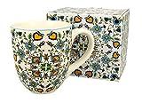 Duo Tazza jumbo XXL, decorazione folkloristica, 900 ml, in porcellana, per smoothie, regalo per ufficio, tazza da tè, cappuccino, tazza da caffè Jumbo, tazza gigante XXXL (Ethno Flower)