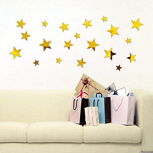 Zegeey Star Art Spiegel Wandaufkleber Acryl Oberfläche Aufkleber Home Room DIY Art Decor 20 Stück