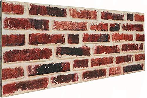 3D Wandverkleidung Wandpaneel aus Styropor in Steinoptik für Wohnzimmer, Küche, Terrasse oder Schlafzimmer - Ziegeleffekt - 100 cm x 50 cm x 2 cm, Typ 120
