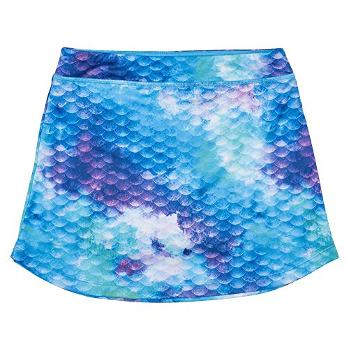 Fin Fun Watercolor Waves Mermaid Skorts, Youth L