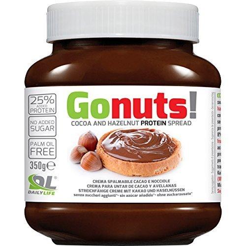 6x DAILY LIFE ANDERSON GONUTS 350g Anderson Go Nuts 350 gr Crema Proteica Spalmabile di Cacao e nocciole con il 25% di proteine senza olio di palma