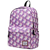 Backpack for Women, VASCHY Water Resistant Fashion Floral 15.6 inch Laptop School Bookbag
